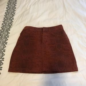 Snake print red urban outfitters skirt xs